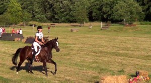 Solar cantering on cross-country