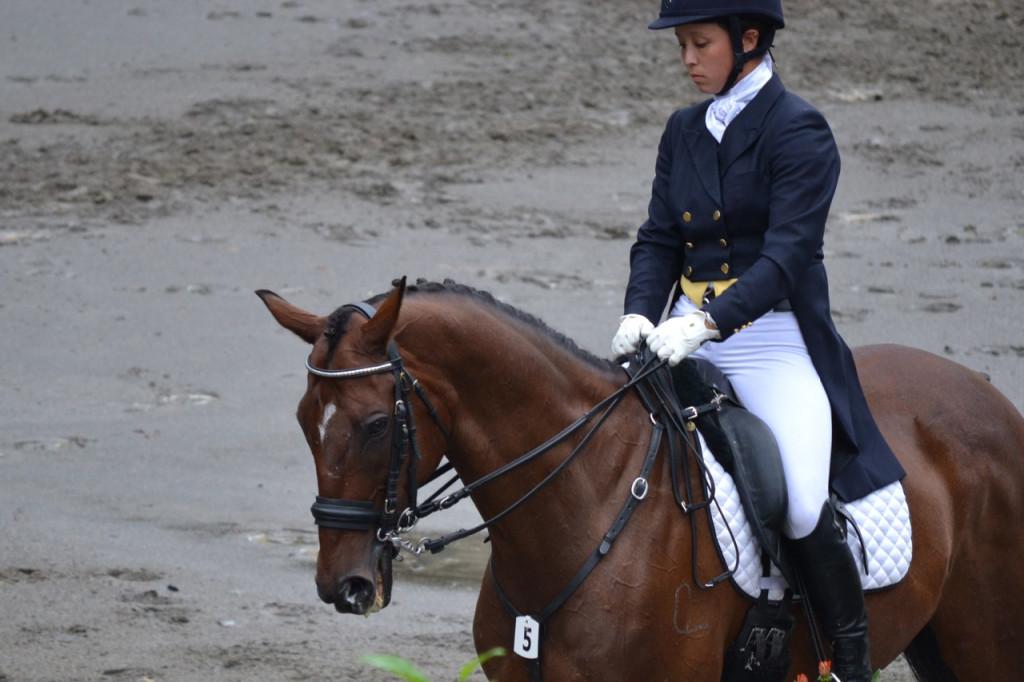 Kiyomi Foster riding dressage