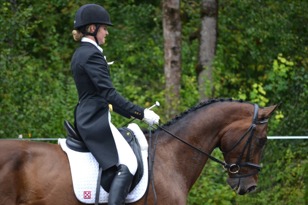 Jordan and Capato riding dressage