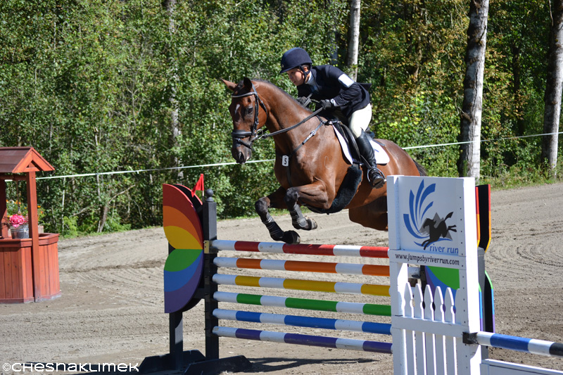 Kiyomi Foster and Tasman Sea jump the rainbow stadium fence