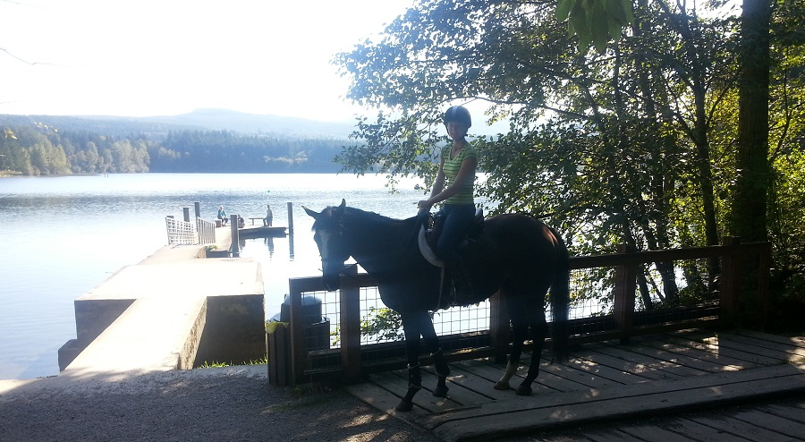 Solar riding at Lake Padden