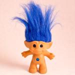 Blue treasure troll doll