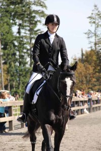 Solar and Chesna riding dressage