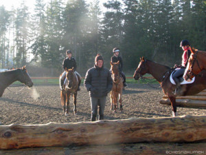 Boyd Martin teaching riders cross-country