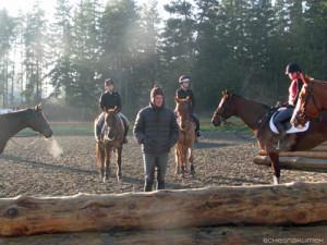 Boyd Martin teaching riders cross-country