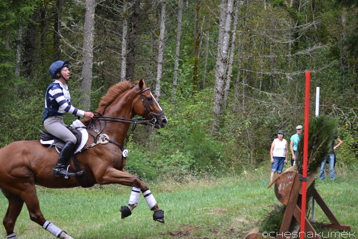 Anni Grandia riding cross-country