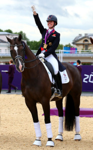 Charlotte Dujardin winning with horse Valegro