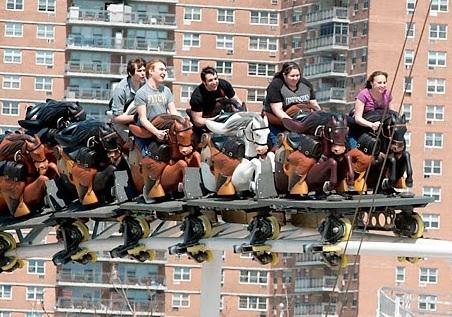 Steeplechase roller coaster