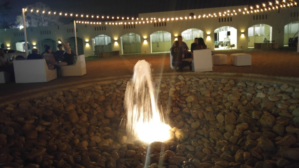 Water fountain at Haras Cup