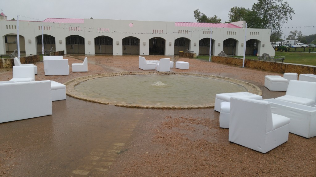 Flooded water fountain at Haras Hacienda